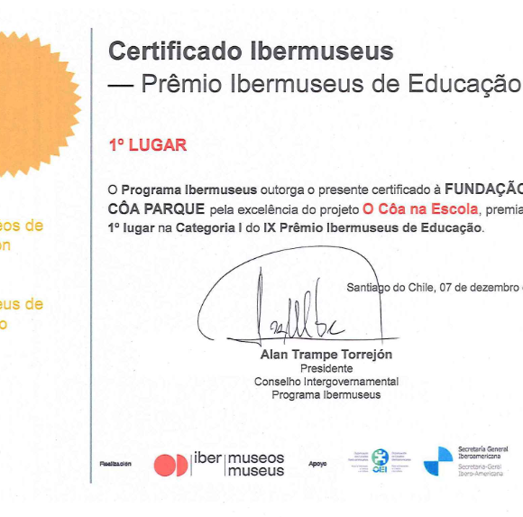 """O Côa na Escola"" wins the Ibermuseus Education Prize"