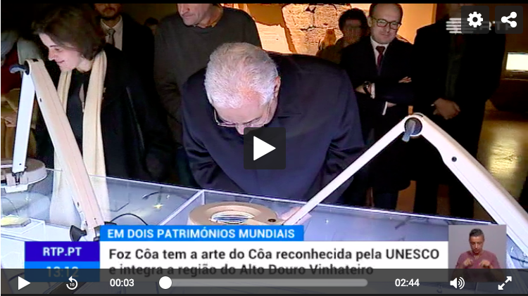 The Portuguese prime minister António Costa visits the Côa Museum